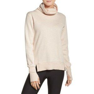 Alo Yoga Beige Haze Funnel Neck Sweatshirt